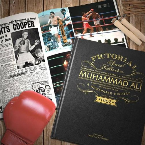 Personalised Muhammad Ali Newspaper Book
